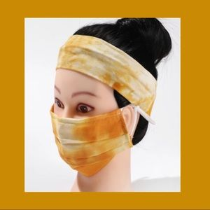 Face mask and headband set